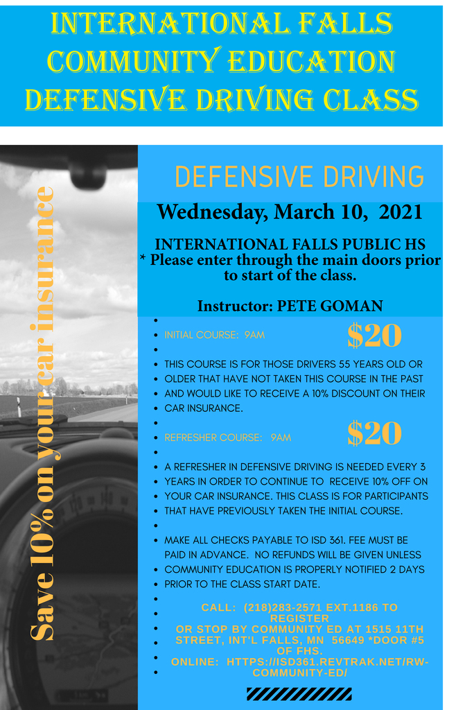 Defensive Driving Class: March 2021