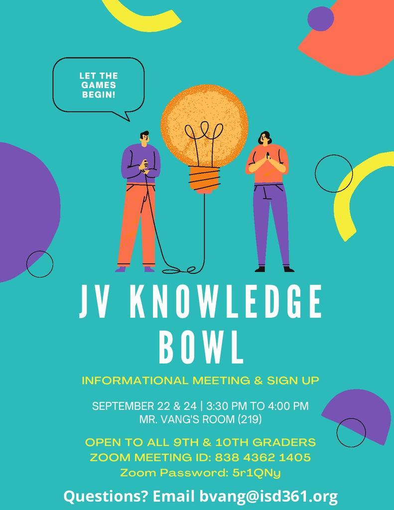 Knowledge Bowl Flyer